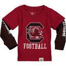 South Carolina Gamecocks Wes & Willy Infant Football Fooler Long Sleeve T-Shirt - Garnet