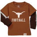 Texas Longhorns Wes & Willy Infant Football Fooler Long Sleeve T-Shirt - Texas Orange
