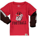 Georgia Bulldogs Wes & Willy Infant Football Fooler Long Sleeve T-Shirt - Red