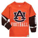 Auburn Tigers Wes & Willy Toddler Football Fooler Long Sleeve T-Shirt - Orange