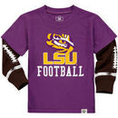 LSU Tigers Wes & Willy Toddler Football Fooler Long Sleeve T-Shirt - Purple