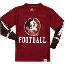 Florida State Seminoles Wes & Willy Toddler Football Fooler Long Sleeve T-Shirt - Garnet