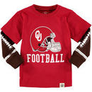 Oklahoma Sooners Wes & Willy Toddler Football Fooler Long Sleeve T-Shirt - Crimson