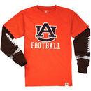 Auburn Tigers Wes & Willy Youth Football Fooler Long Sleeve T-Shirt - Orange