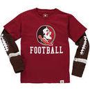Florida State Seminoles Wes & Willy Youth Football Fooler Long Sleeve T-Shirt - Garnet