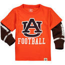 Auburn Tigers Wes & Willy Preschool Football Fooler Long Sleeve T-Shirt - Orange