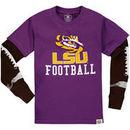 LSU Tigers Wes & Willy Preschool Football Fooler Long Sleeve T-Shirt - Purple