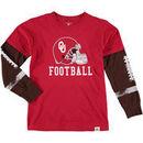 Oklahoma Sooners Wes & Willy Preschool Football Fooler Long Sleeve T-Shirt - Crimson