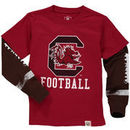 South Carolina Gamecocks Wes & Willy Preschool Football Fooler Long Sleeve T-Shirt - Garnet