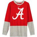Alabama Crimson Tide Wes & Willy Youth Engineered Slub Pullover Sweatshirt - Crimson