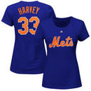 Matt Harvey New York Mets Majestic Women's Name and Number T-Shirt - Royal