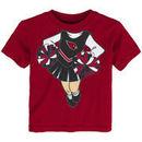 Arizona Cardinals Girls Toddler Cheerleader Dreams T-Shirt - Cardinal