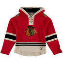 Chicago Blackhawks Old Time Hockey Youth Current Lacer Heavyweight Hoodie - Red