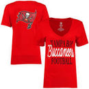 Tampa Bay Buccaneers Women's Victory Play 2-Hit V-Neck T-Shirt - Red