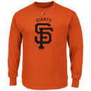 San Francisco Giants Majestic Big & Tall Critical Victory Long Sleeve T-Shirt - Orange