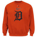 Detroit Tigers Majestic Big & Tall Critical Victory Fleece Crew Sweatshirt - Orange