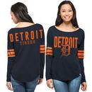 Detroit Tigers '47 Brand Women's Dugout Long Sleeve T-Shirt - Navy