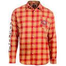 San Francisco 49ers Wordmark Flannel Long Sleeve Button-Up - Scarlet/