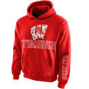 Wisconsin Badgers New Agenda Youth Hollow Straight Prep Hoodie - Red