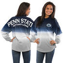 Penn State Nittany Lions Women's Ombre Long Sleeve Dip-Dyed Spirit Jersey - Navy