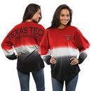 Texas Tech Red Raiders Women's Ombre Long Sleeve Dip-Dyed Spirit Jersey - Red