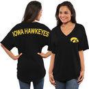 Iowa Hawkeyes Women's Spirit Jersey Oversized T-Shirt - Black