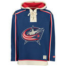 Columbus Blue Jackets Old Time Hockey Lacer Heavyweight Pullover Hoodie - Navy