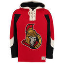 Ottawa Senators Old Time Hockey Lacer Heavyweight Pullover Hoodie - Red