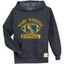 West Virginia Mountaineers Original Retro Brand Youth Tri-Blend Pullover Hoodie - Heathered Navy