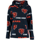 Chicago Bears Concepts Sport Women's Facade Long Sleeve Hooded Pajama Top - Navy