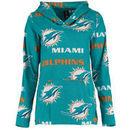 Miami Dolphins Concepts Sport Women's Facade Long Sleeve Hooded Pajama Top - Aqua