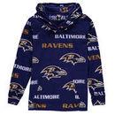 Baltimore Ravens Concepts Sport Women's Facade Long Sleeve Hooded Pajama Top - Purple