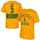 Abby Bishop Seattle Storm adidas Name & Number T-Shirt - Gold