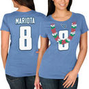 Marcus Mariota Tennessee Titans Majestic Women's Hawaiian Lei Name & Number T-Shirt - Light Blue