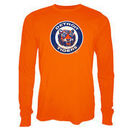 Detroit Tigers Majestic Threads Vintage Logo Soft Hand Long Sleeve T-Shirt - Orange