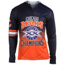 Chicago Bears Klew On the Fifty Matchup Hooded Long Sleeve T-Shirt - Navy