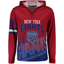 New York Giants Klew On the Fifty Matchup Hooded Long Sleeve T-Shirt - Red