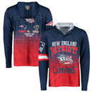 New England Patriots Klew On the Fifty Matchup Hooded Long Sleeve T-Shirt - Red  -