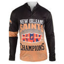 New Orleans Saints Klew On the Fifty Matchup Hooded Long Sleeve T-Shirt - Black
