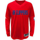 LA Clippers adidas Youth On-Court Shooter Long Sleeve T-Shirt - Red