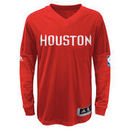 Houston Rockets adidas Youth On-Court Shooter Long Sleeve T-Shirt - Red