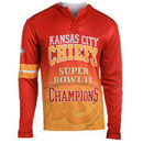 Kansas City Chiefs Klew On the Fifty Matchup Hooded Long Sleeve T-Shirt - Red