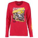 Jeff Gordon Women's Full Throttle Long Sleeve T-Shirt - Red