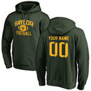 Baylor Bears Personalized Distressed Football Pullover Hoodie - Green