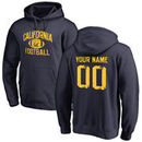 Cal Bears Personalized Distressed Football Pullover Hoodie - Navy