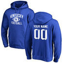 Kentucky Wildcats Personalized Distressed Football Pullover Hoodie - Royal Blue