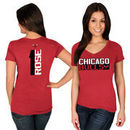 Derrick Rose Chicago Bulls Majestic Women's Name & Number V-Neck T-Shirt - Red