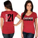 Jimmy Butler Chicago Bulls Majestic Women's Name & Number V-Neck T-Shirt - Red