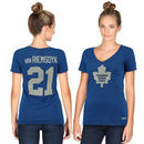 James Van Riemsdyk Toronto Maple Leafs CCM Women's Name & Number V-Neck T-Shirt - Blue