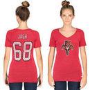 Jaromir Jagr Florida Panthers CCM Women's Name & Number V-Neck T-Shirt - Red